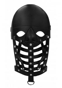 Ouch! Pain Leather Male Mask - Black