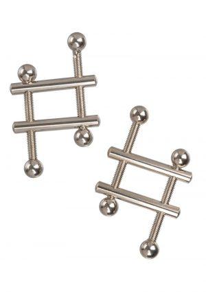 Nipple Grips Crossbar Nipple Vices - Silver