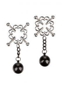 Nipple Grips 4-Point Weighted Nipple Press - Silver/Black