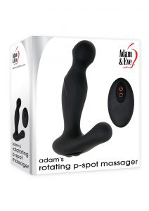 Adam andamp; Eve Adam`s Rotating P-Spot Rechargeable Silicone Massager With Remote Control - Black