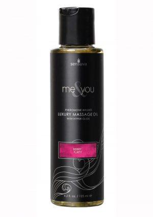 Me And You Pheromone Infused Luxury Massage Oil Berry Flirt 4.2oz