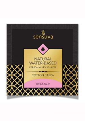Sensuva Natural Water Based Cotton Candy Flavored Lubricant .20oz Foil