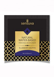 Sensuva Natural Water Based Blueberry Muffin Flavored Lubricant .20oz Foil