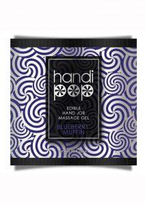 Handipop Edible Handjob Massage Gel Blueberry Muffin .20oz Foil