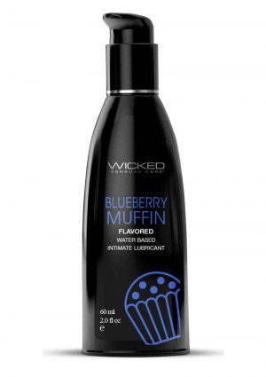 Wicked Aqua Water Based Flavored Lubricant Blueberry Muffin 2oz