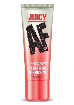Juicy AF Water Based Flavored Lubricant Watermelon 4oz