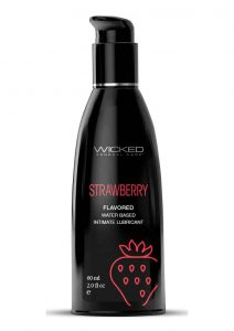 Wicked Aqua Water Based Flavored Lubricant Strawberry 2oz