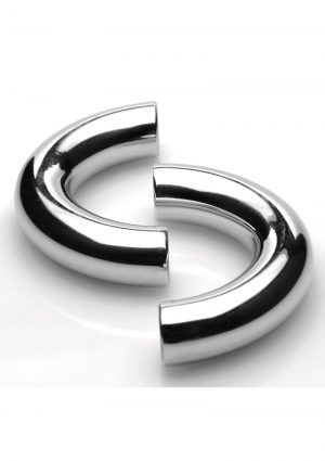 Master Series Mega Magnetize Stainless Steel Cock Ring 1.75in - Silver