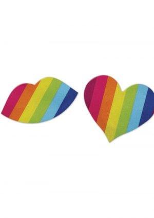 NIPPLICIOUS Rainbow Nipple Pasties - 2 Pairs