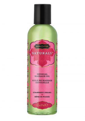 Naturals Massage Oil 2oz - Strawberry Dreams