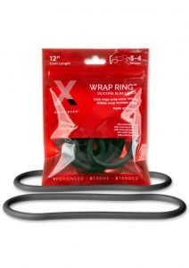 The Xplay Silicone Thin Wrap Ring 12in (2 Pack) - Black