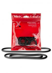 12 And 15 Silicone Thin Wrap Ring (3 Pack) - Black