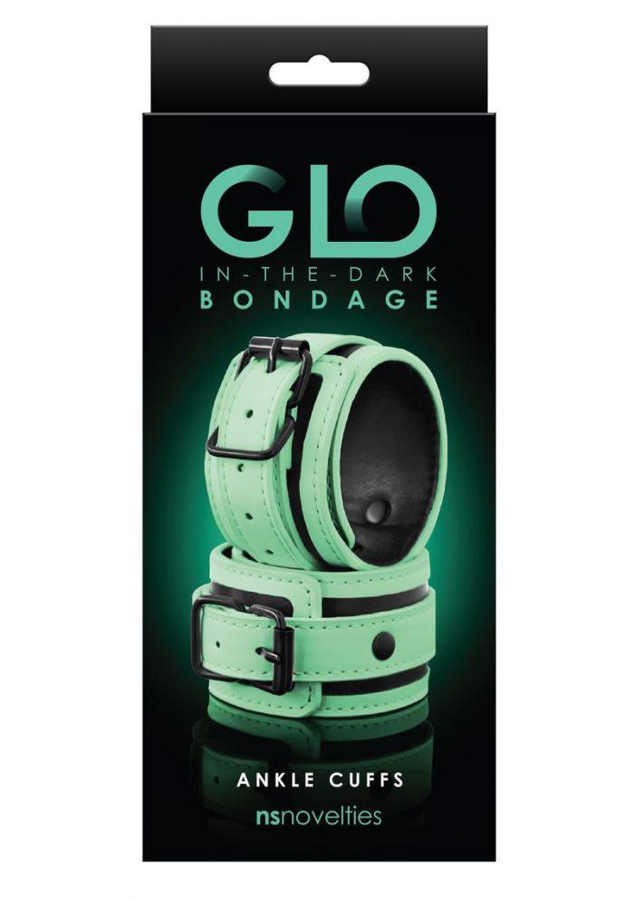 GLO Bondage Glow In The Dark Ankle Cuff - Green