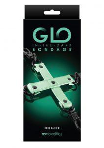 GLO Bondage Glow In The Dark Hog Tie - Green
