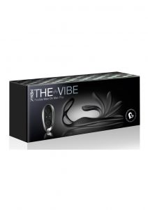 The-Vibe Silicone Rechargeable Anal Stimulator With Remote Control - Black/Silver