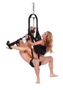 Whipsmart Bondage Pleasure Swing - Black