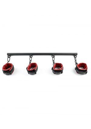 Saffron Spreader Bar andamp; Cuff Set - Black/Red
