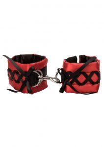 Tantric Satin Ties Wrist Cuffs - Red