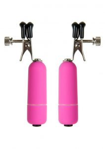 Ouch! Vibrating Nipple Clamps - Pink