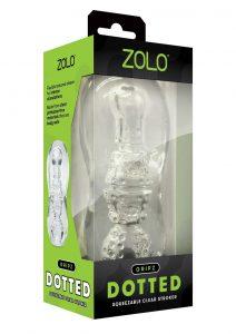 ZOLO Gripz Dotted Stroker Masturbator - Clear