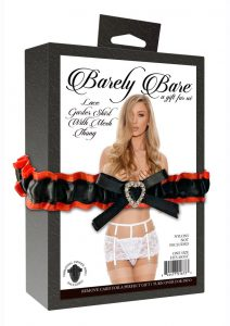 Barely Bare Lace Garter Skirt With Mesh Thong - O/S - White