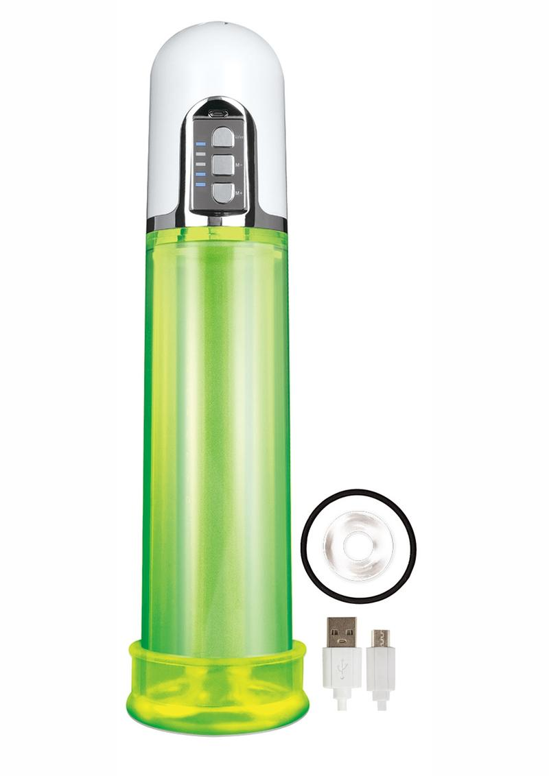 Electric Pump Rechargeable Penis Pump - Green