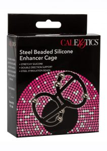 Steel Beaded Silicone Enhancer Cage - Black