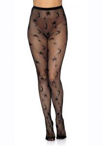 Leg Avenue Celestial Net Tights - O/S - Black