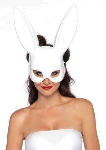 Leg Avenue Bondage Bunny Mask (6 Per Pack) - O/S - White