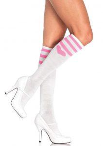 Leg Avenue Sweetheart Athletic Knee Socks - O/S - White