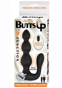 Butts Up Rechargeable Silicone Prostate Stimulator With Remote Control - Black