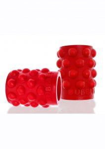 Bubbles Silicone Nipple Suckers - Red
