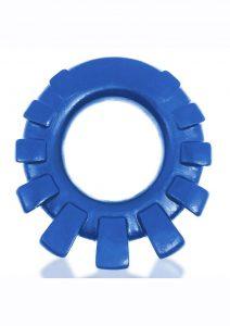 Cock-Lug Silicone Lugged Cock Ring - Marine Blue