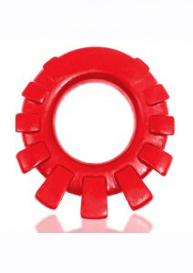 Cock-Lug Silicone Lugged Cock Ring - Red