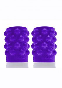 Bubbles Silicone Nipple Suckers - Eggplant