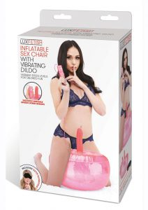 Lux Fetish Inflatable Sex Chair With Vibrating Dildo and Remote Control - Pink