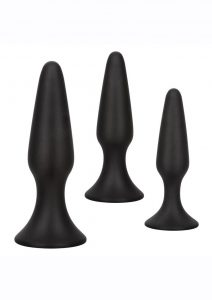 Colt Silicone Anal Trainer Kit (set of 3) - Black
