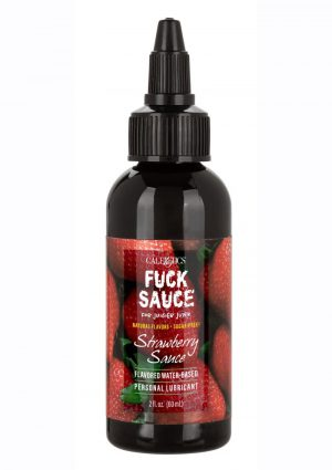 Fuck Sauce Flavored Water Based Personal Lubricant Strawberry - 2oz