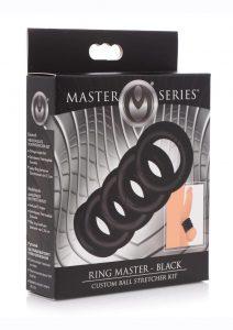 Master Series Ring Master Ball Stretching Kit (6 Piece Kit) - Black