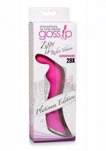 Gossip Zippy 28x Rechargeable Silicone Rabbit Vibrator - Pink