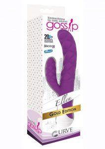 Gossip Ellen 20x Silicone Rabbit Vibrator - Purple